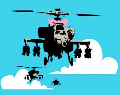 banksy-helicopter - Printed BigBoy @ Bigboybeanbag.ie